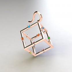 Pendientes cubo color ( RF...